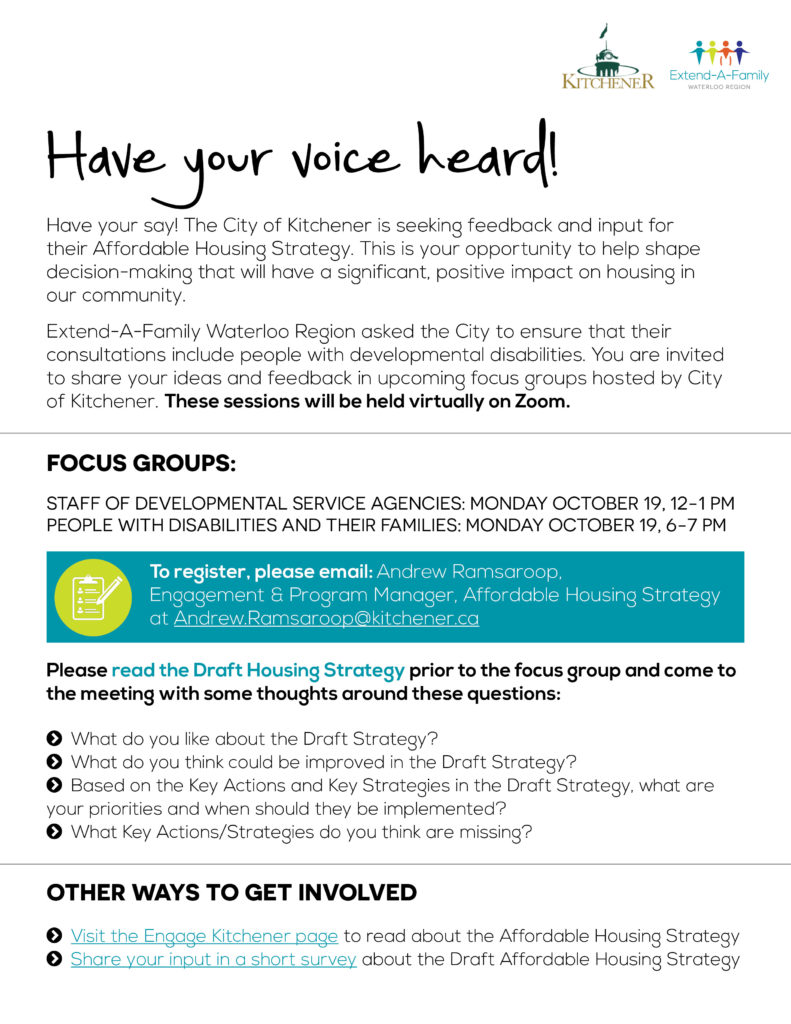 Affordable Housing Focus Groups