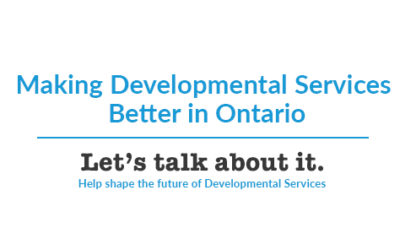 Let's Talk About Making Developmental Services Better in Ontario